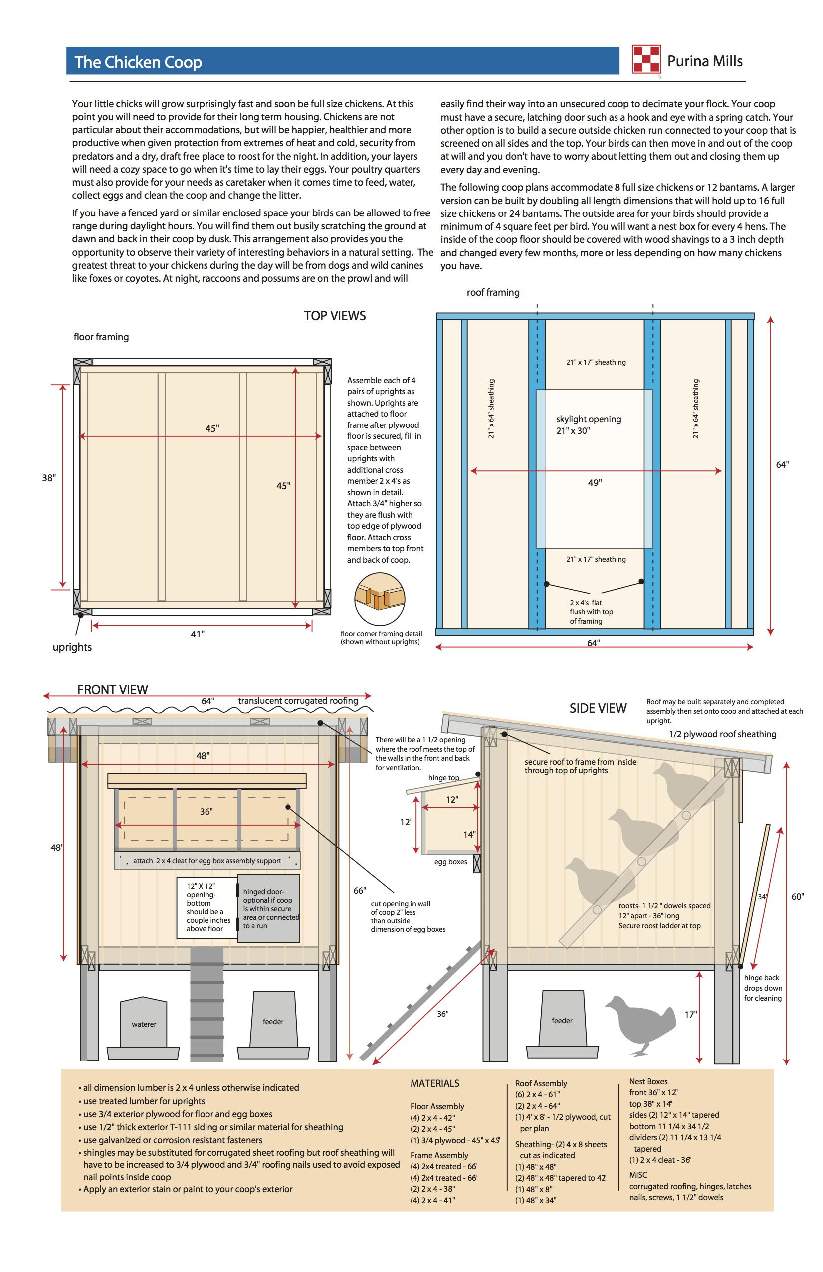 Plans for A Chicken House Elegant Purina Hen House Design Plans