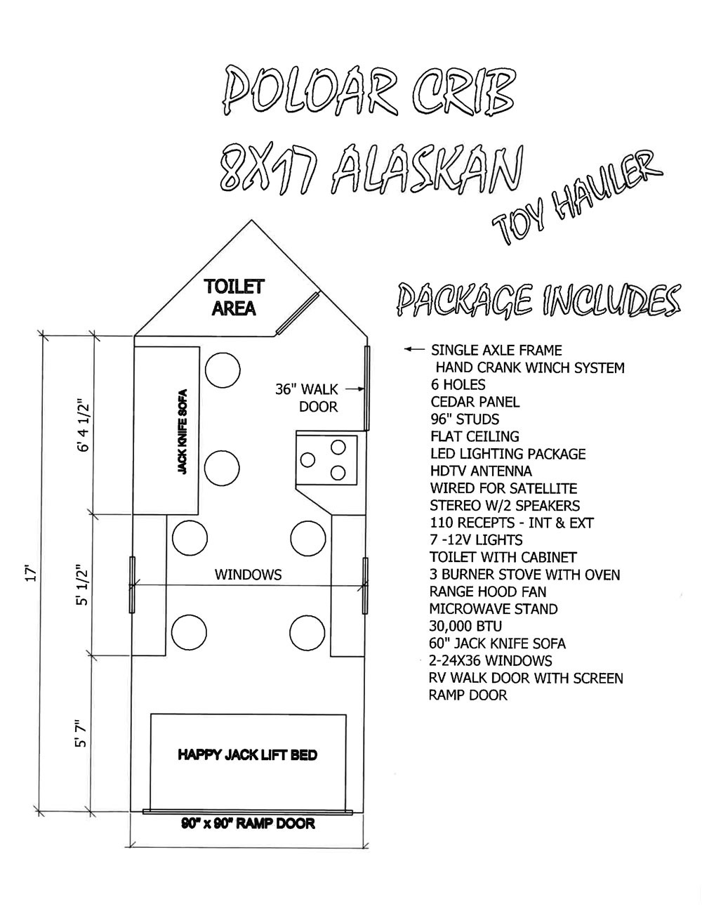 10 Polar Crib Alaskan Toy Hauler Floor Plan