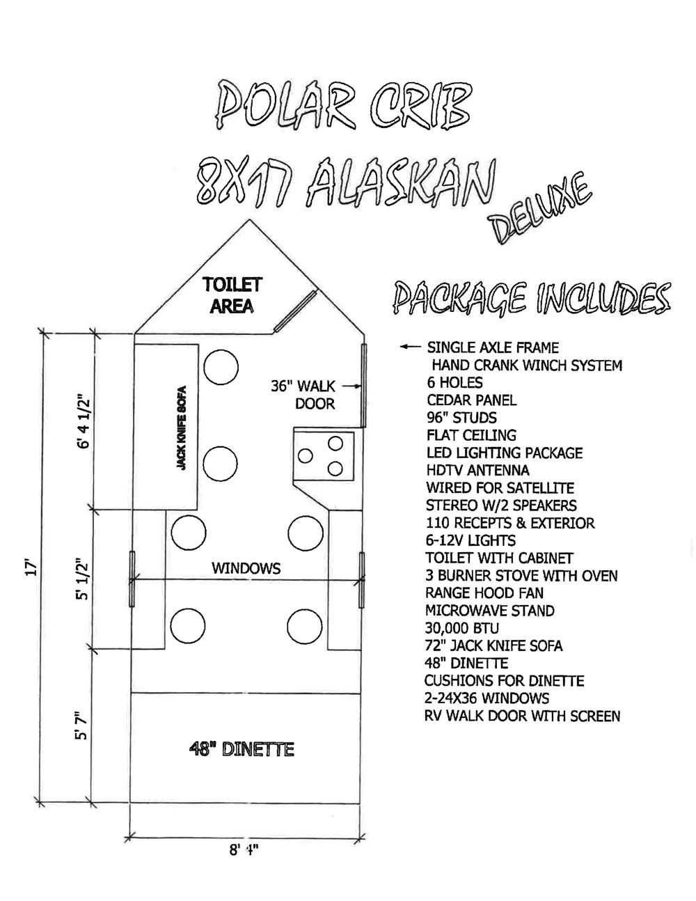07 Polar Crib Alaskan Delux Floor Plans