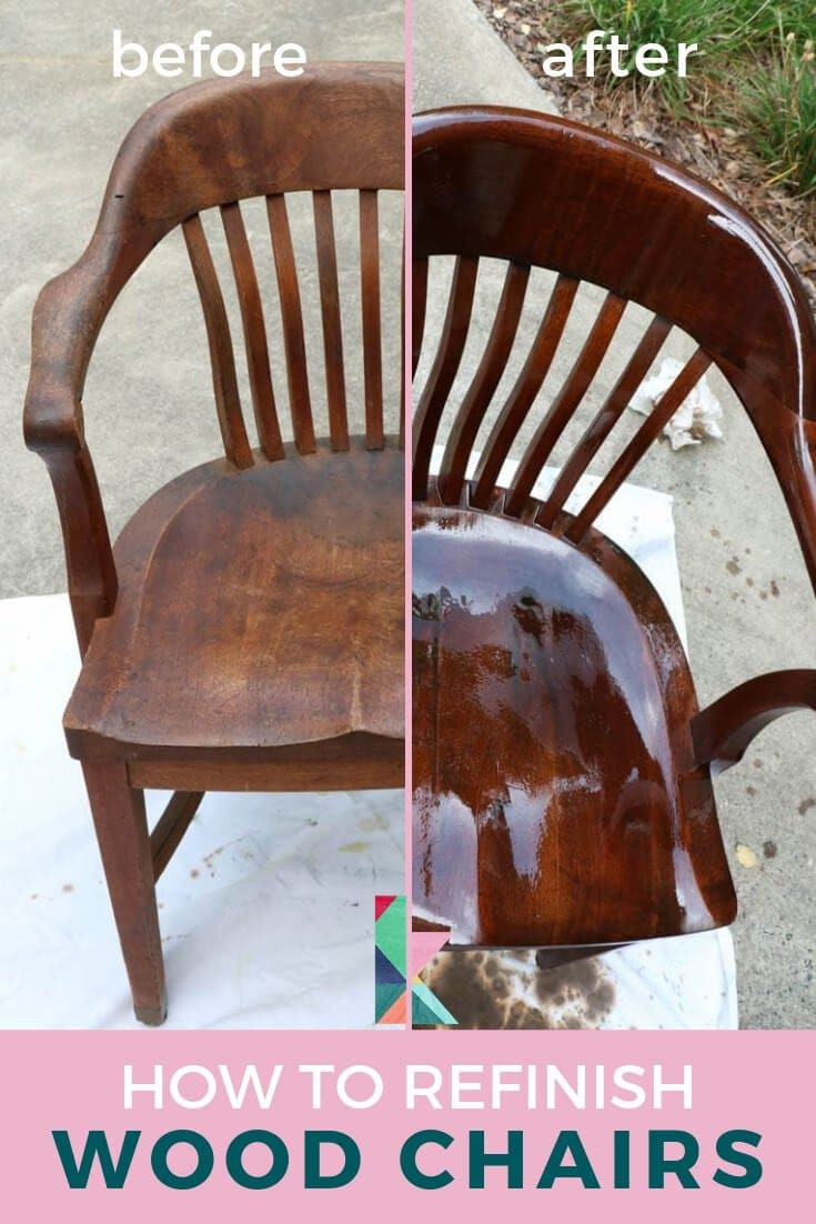 how to refinish wood chairs 2