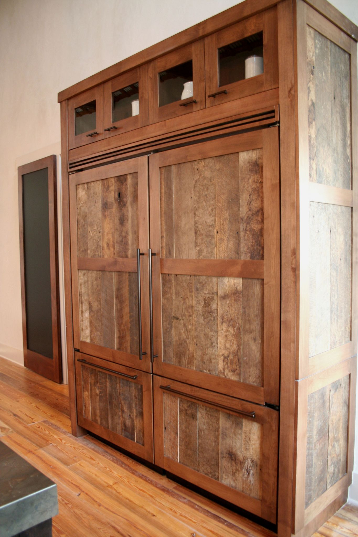reclaimed wood kitchen cabinet integrating in your remodel bkc and cupboard doors barn cabinets style rustic barnwood old cupboards