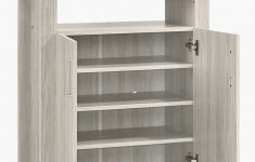 Shoe Cabinet With Doors Inspirational 2 Doors Shoe Cabinet Storage W Top Shelf In White Oak