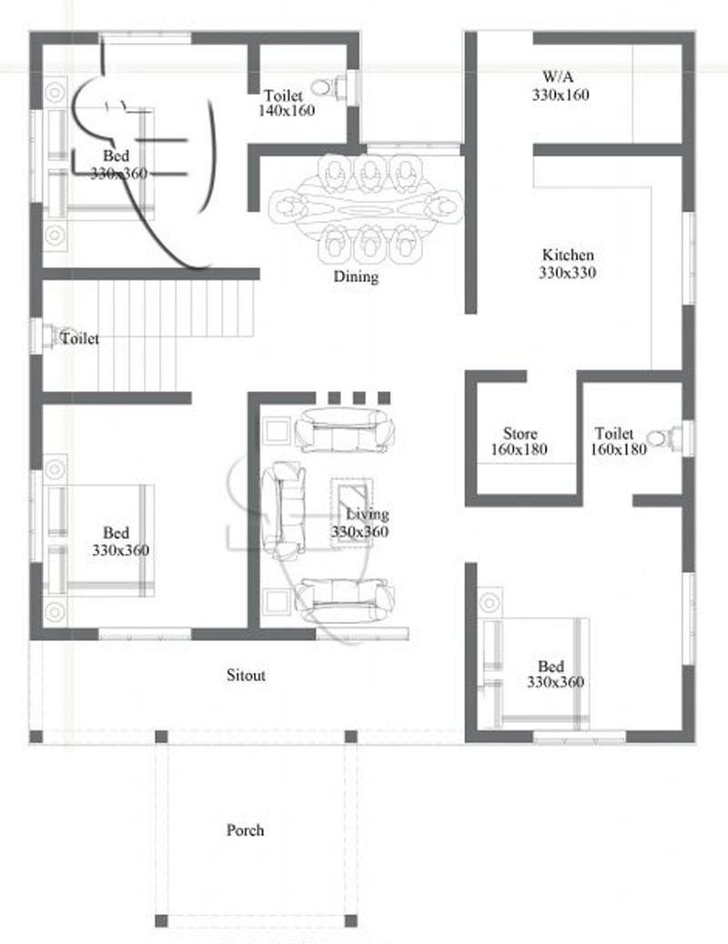 e storey Home Design floor plan