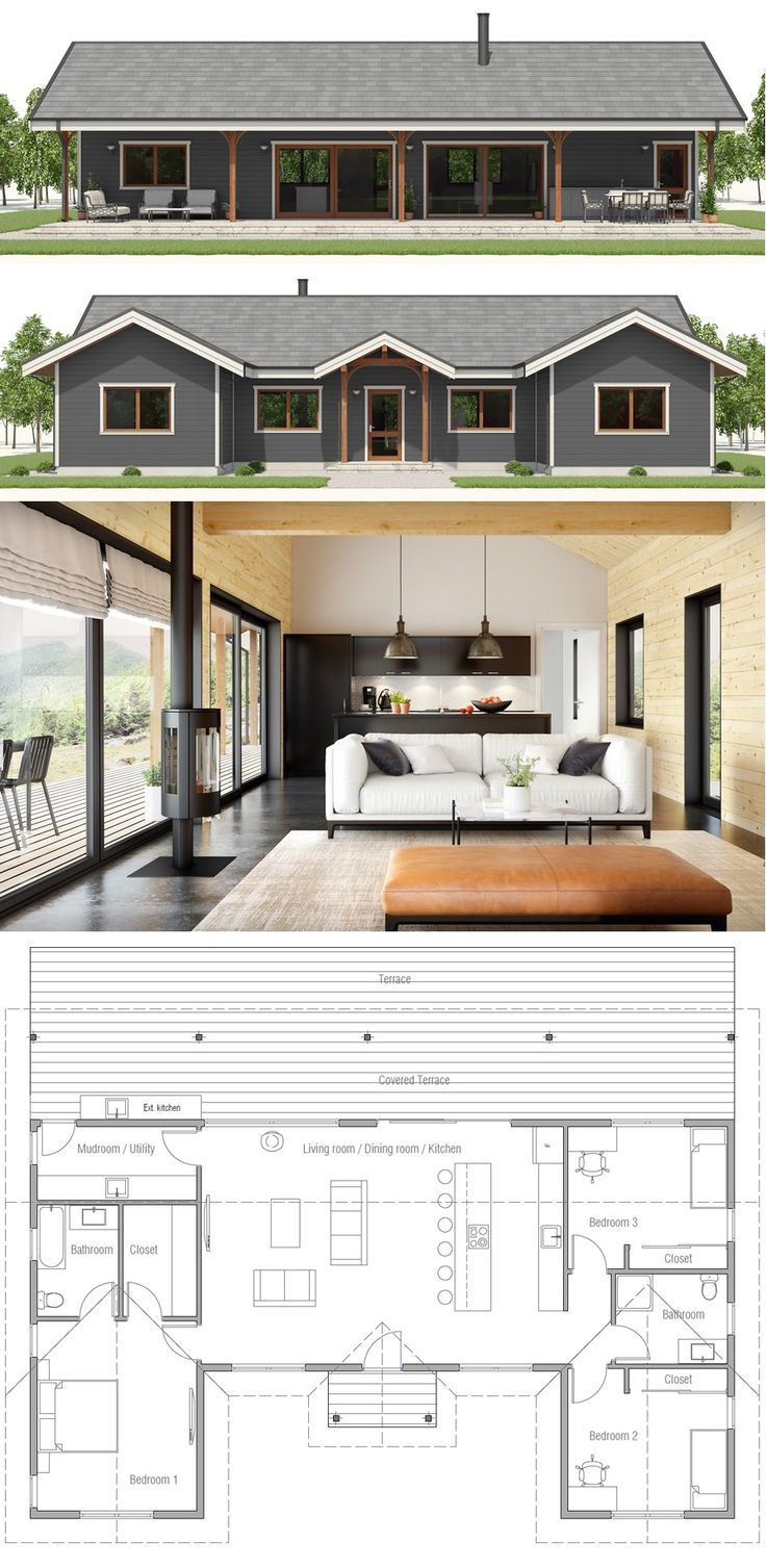 Single Story Small House Plans Unique Single Story Home Plan