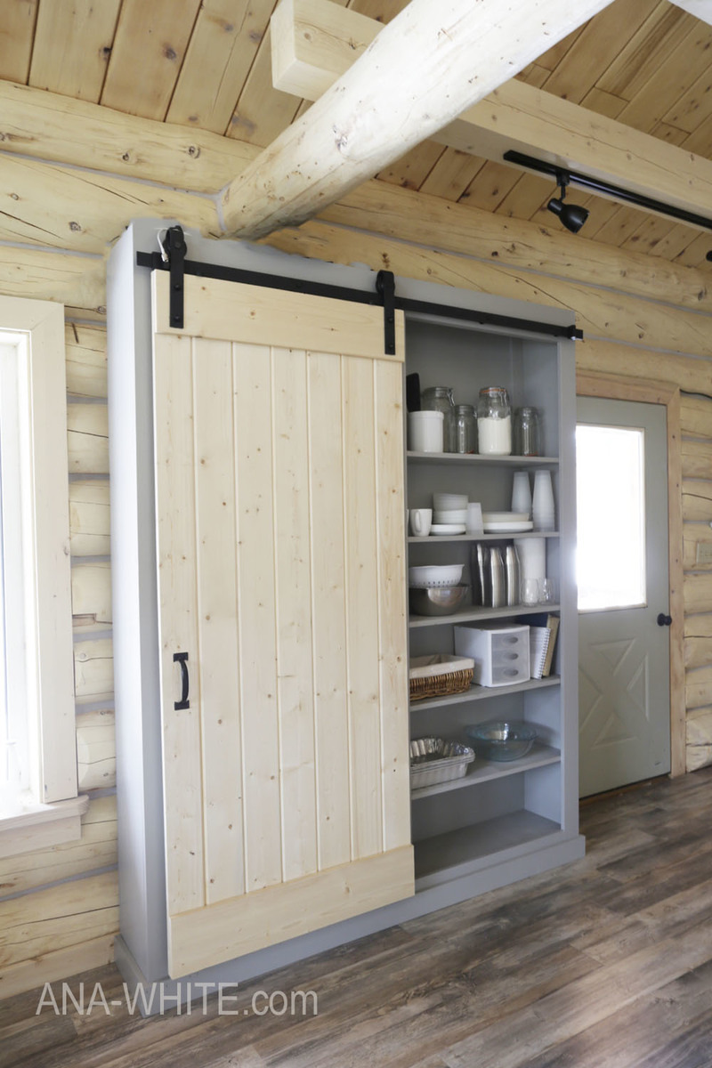 barn door pantry ana white plan03