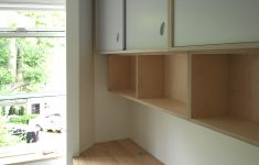 Sliding Kitchen Cabinet Doors Beautiful Wall Mounted Floating Birch Plywood Shelves And Cupboards