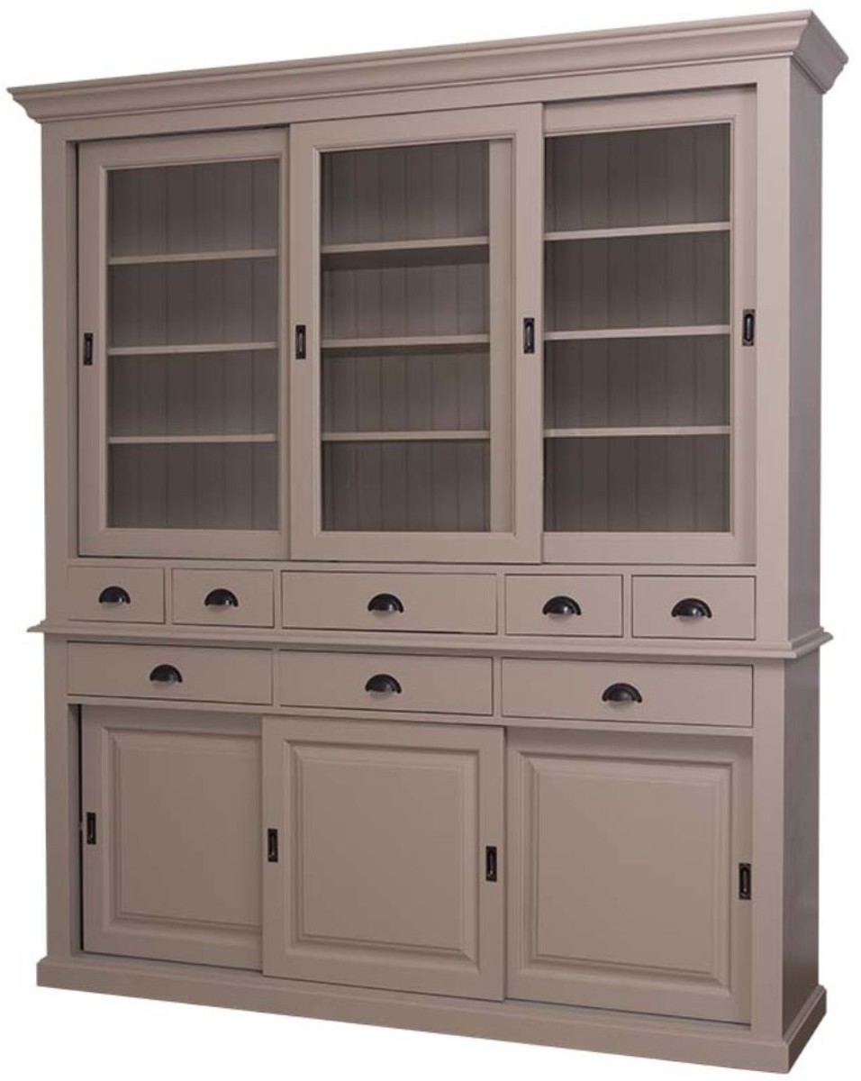 Sliding Kitchen Cabinet Doors Luxury Casa Padrino Country Style Kitchen Cabinet 199 X 48 X H 225 Cm Various Colors 2 Piece Kitchen Cabinet with 6 Sliding Doors and 8 Drawers