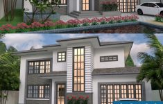 Small 2 Story House Design Elegant 2 Story House Design 14x11m Samphoas Plansearch