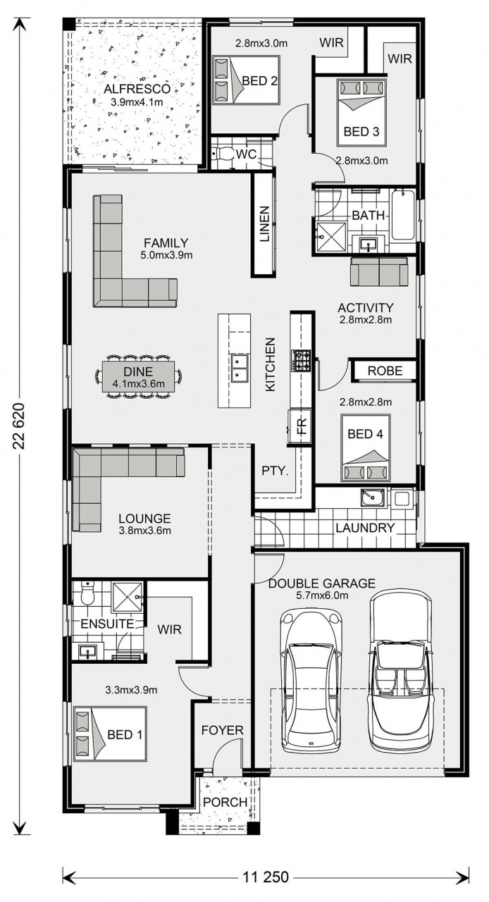 Small 3 Bedroom Floor Plans 2021