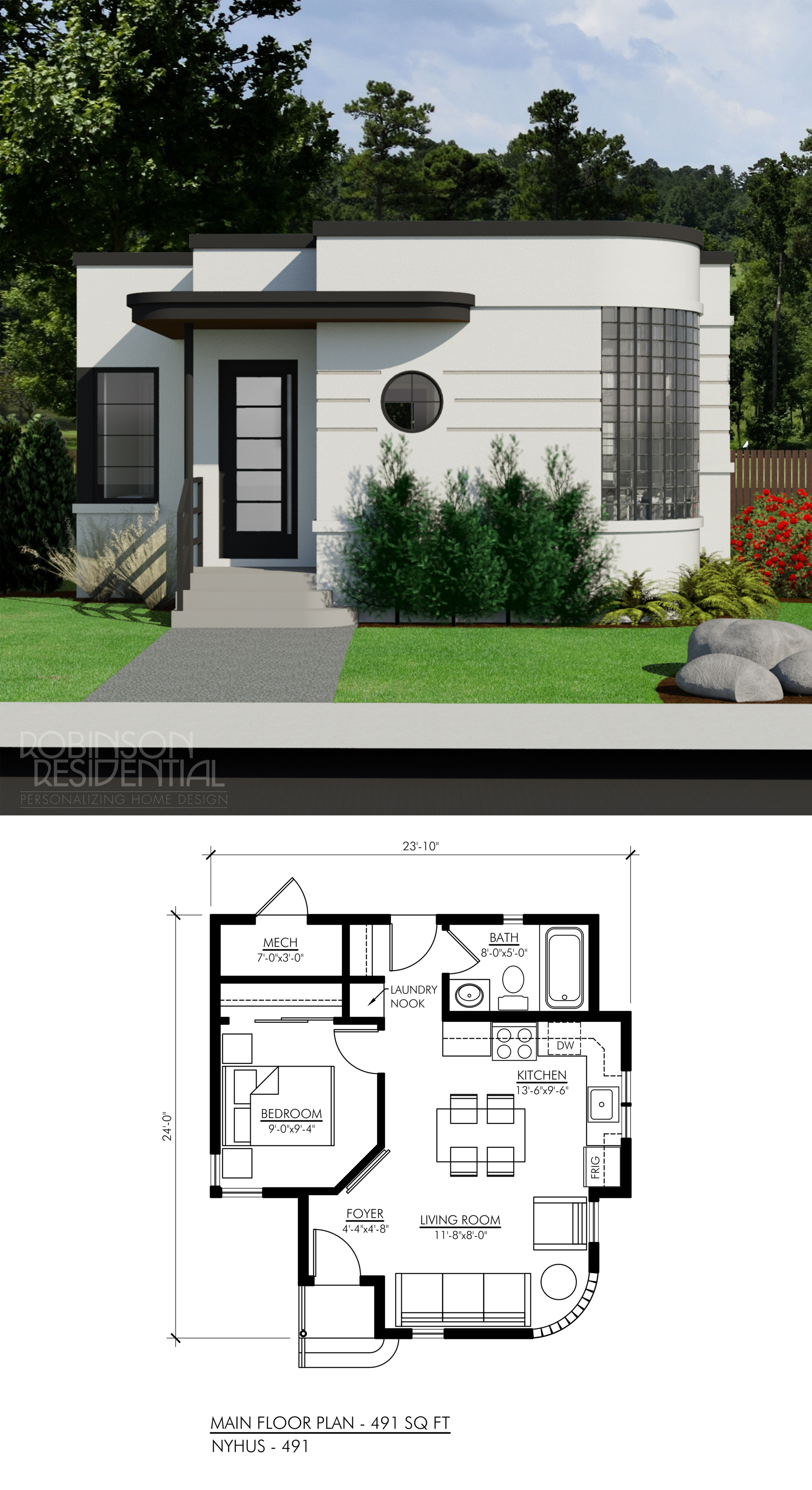 Small House Designs and Floor Plans New Contemporary Nyhus 491 In 2020