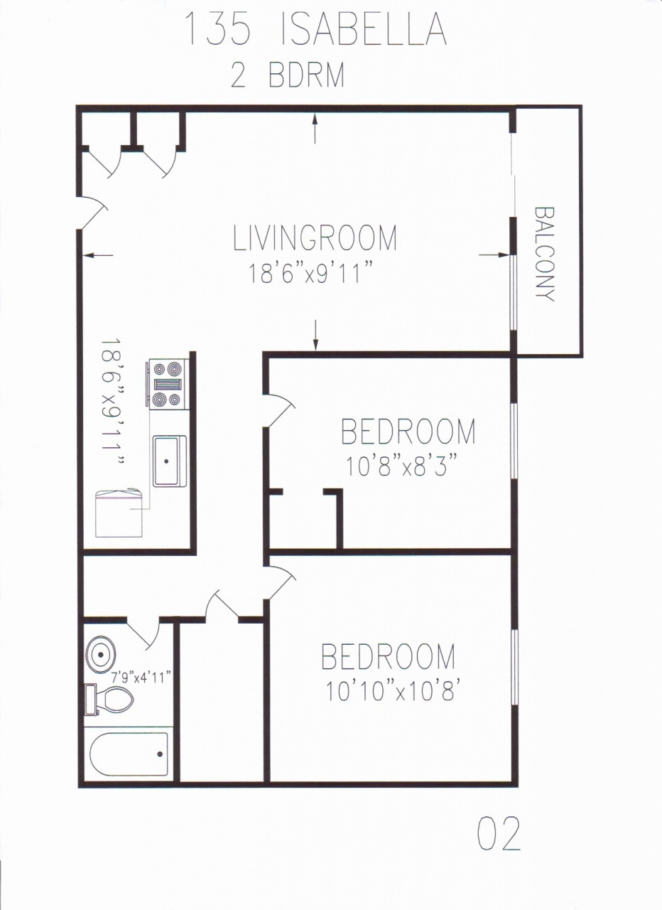 Small House Plans Under 700 Sq Ft Best Of 2 Bedroom House Plans