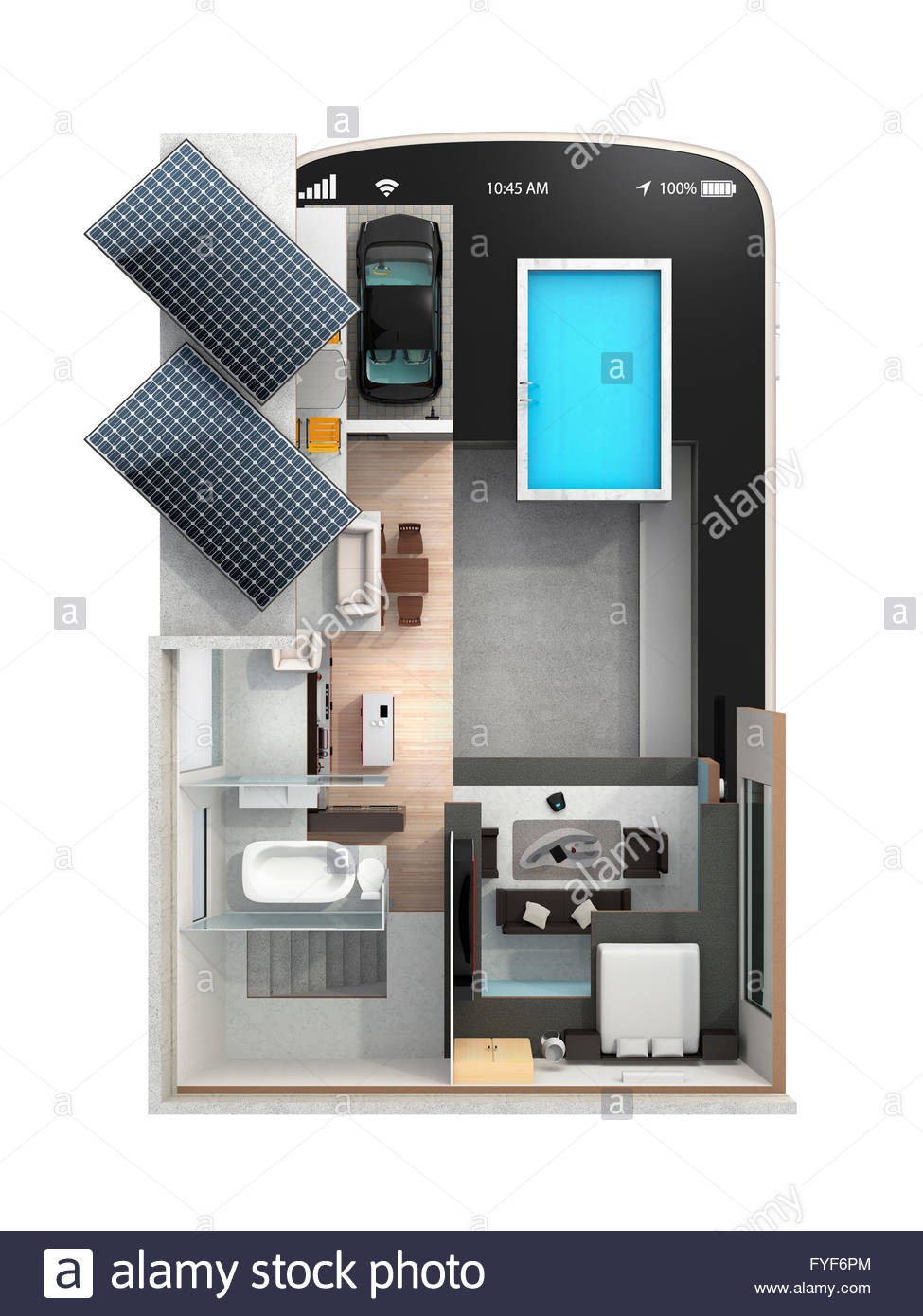 Solar Panel House Plans Fresh Smart House On A Smart Phone the Smart House Equippd with