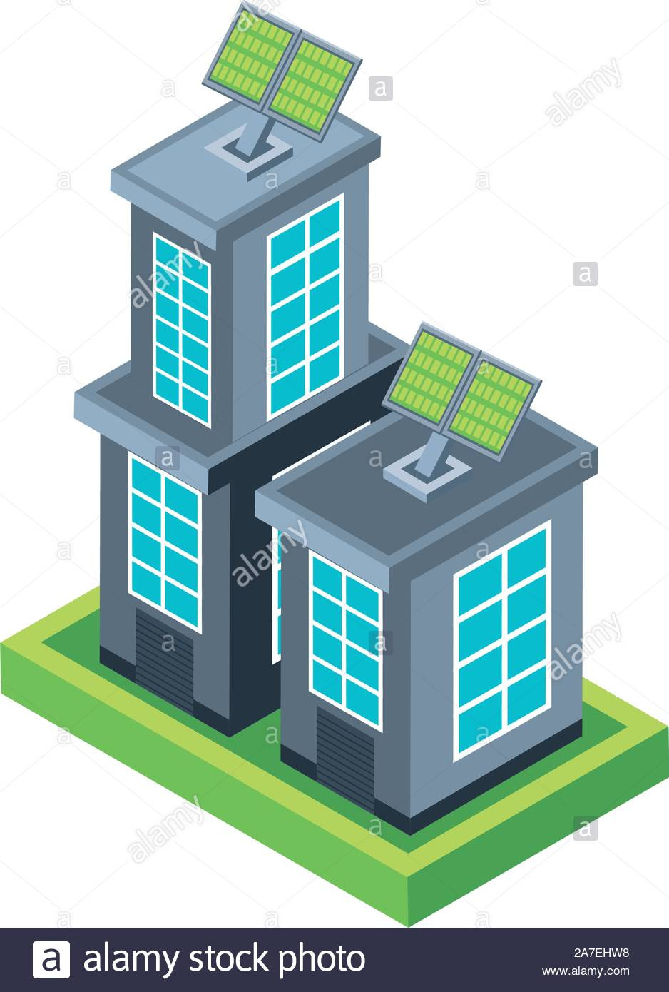 house building with solar panel on white background vector illustration design 2A7EHW8