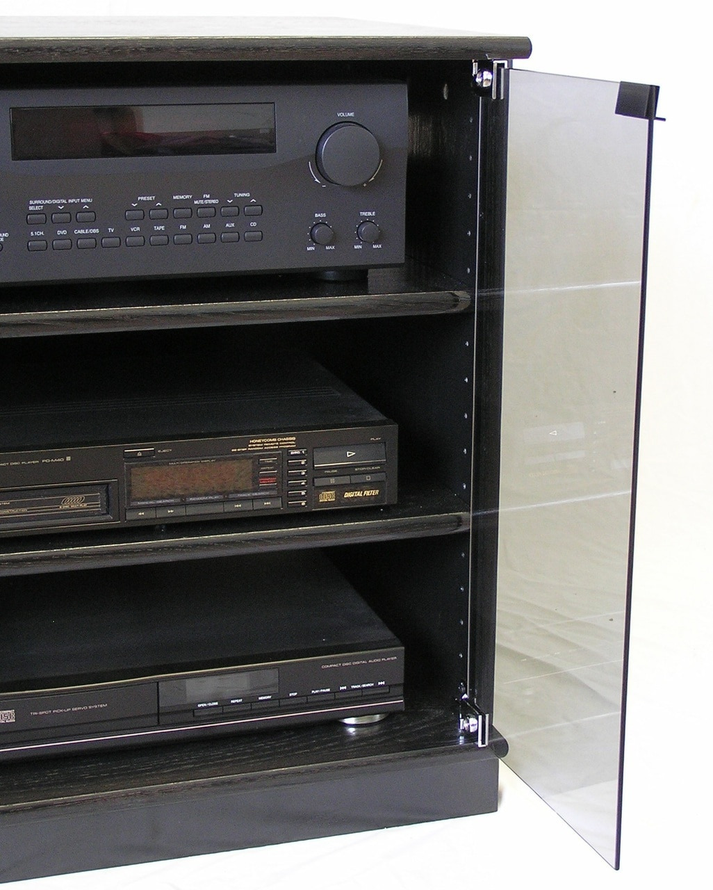 """Stereo Cabinet with Glass Doors Best Of 27"""" Stereo Cabinet Tv Stand with Gray Glass Doors"""