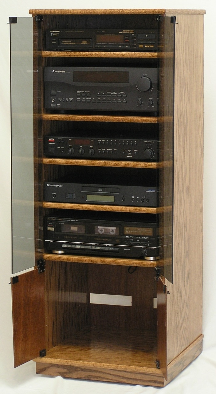 """Stereo Cabinet with Glass Doors Inspirational 53"""" Narrow Stereo Cabinet with Glass Doors"""