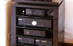 Stereo Cabinet With Glass Doors Luxury Hi Fi Unit With