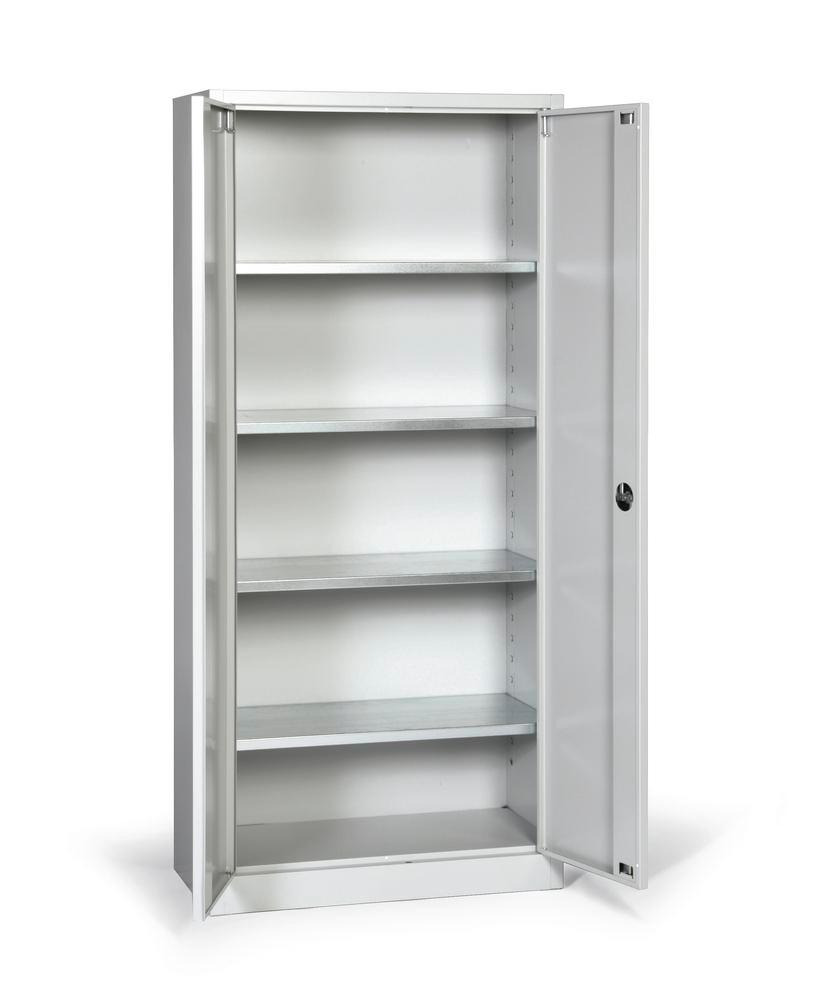 tool storage cabinet ever body and doors grey 4 shelves width 800 mm model p 800 4