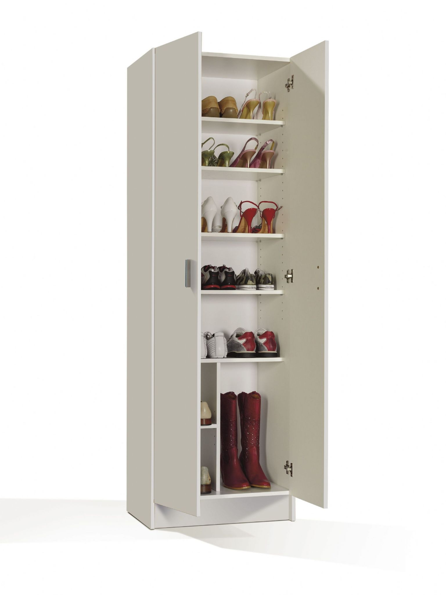 multitall white 2 door utility shoe storage cupboard cabinet armar 2p 4004 p