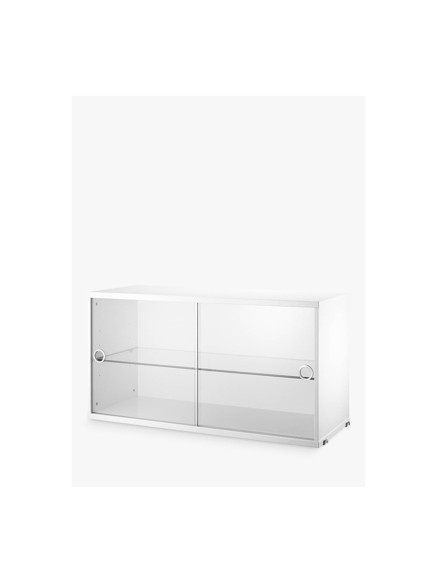 Storage Cabinets with Doors Beautiful String Storage Cabinet Section with Glass Sliding Doors White