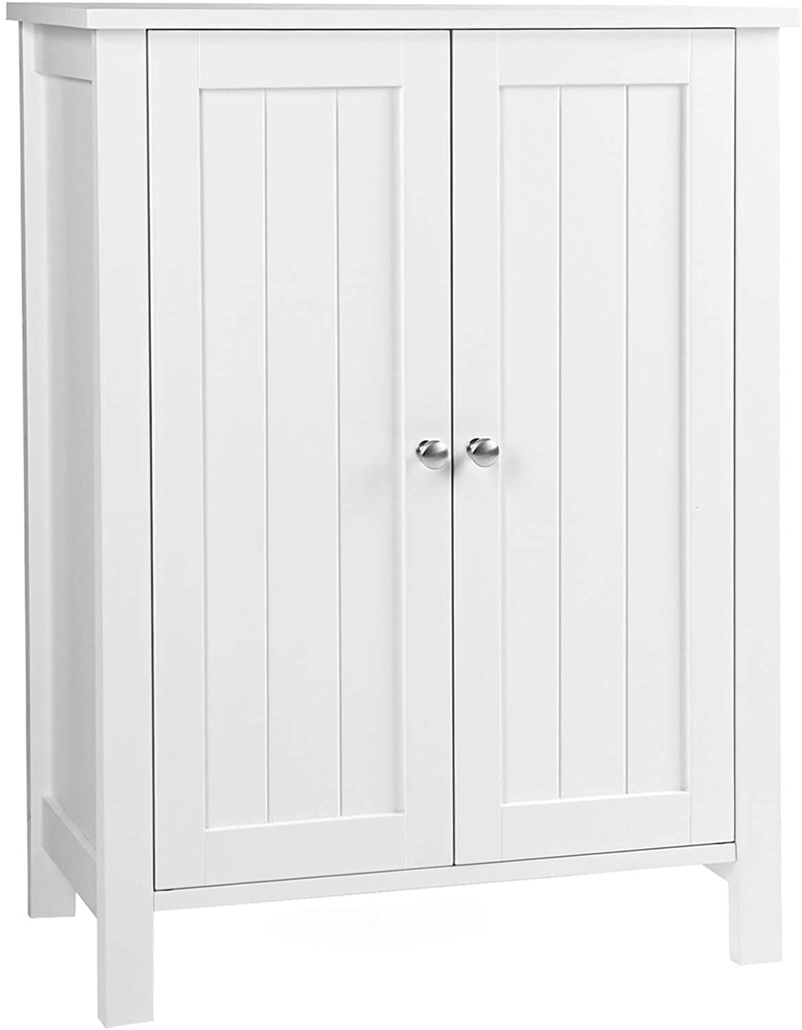 Storage Cabinets with Doors Fresh Vasagle Freestanding Bathroom Cabinet Storage Cupboard Unit with 2 Doors and 2 Adjustable Shelves White Bcb60w