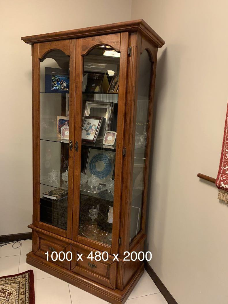 Tall Cabinet with Glass Doors Awesome Display Cabinet with Glass Doors On Carousell