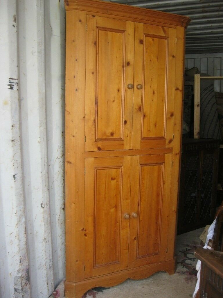 Tall Corner Cabinet with Doors Awesome Quality solid Pine Tall Corner Cabinet Cupboard Viewing Delivery Available In Camelford Cornwall
