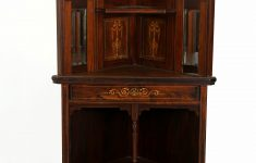 Tall Corner Cabinet With Doors Lovely Antique English Victorian Corner Cabinet Walnut With Inalid Woods