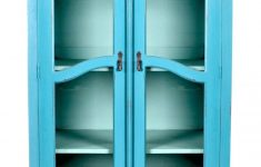 Tall Glass Door Cabinet Beautiful Turquoise Tall Narrow Cabinet With Glass Door In Classic