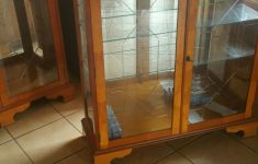 Tall Glass Door Cabinet Fresh 3 Pieces Of Quality Yew Furnifture In Ll22 Towyn Für 100 00