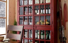 Tall Glass Door Cabinet Fresh Tall Red Divided Cabinet With Four Paned Glass Doors