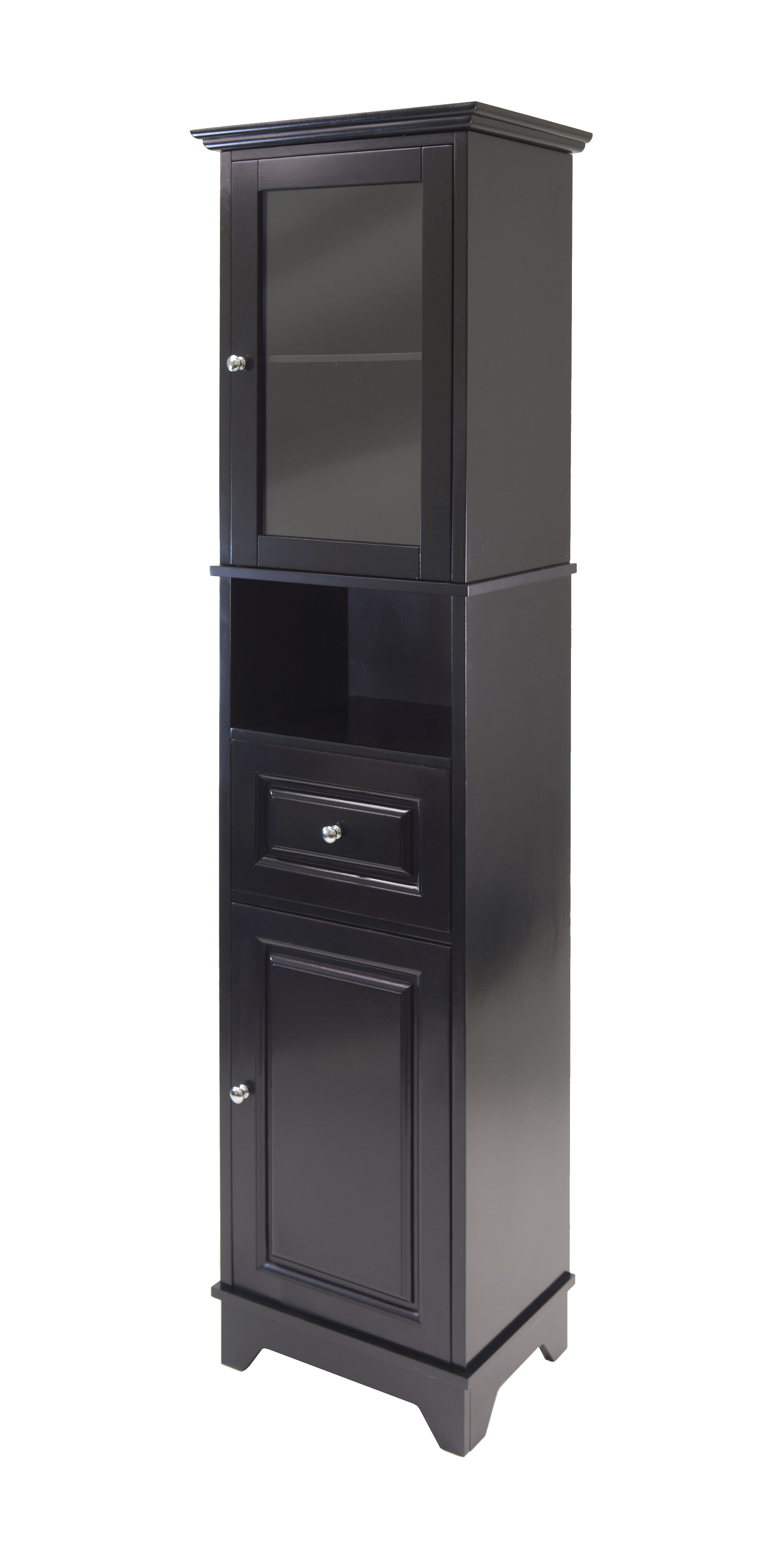 products alps tall cabinet with glass door and drawer