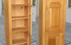 Tall Wood Storage Cabinets With Doors Beautiful Sold Tall Skinny Pine Cabinet $120