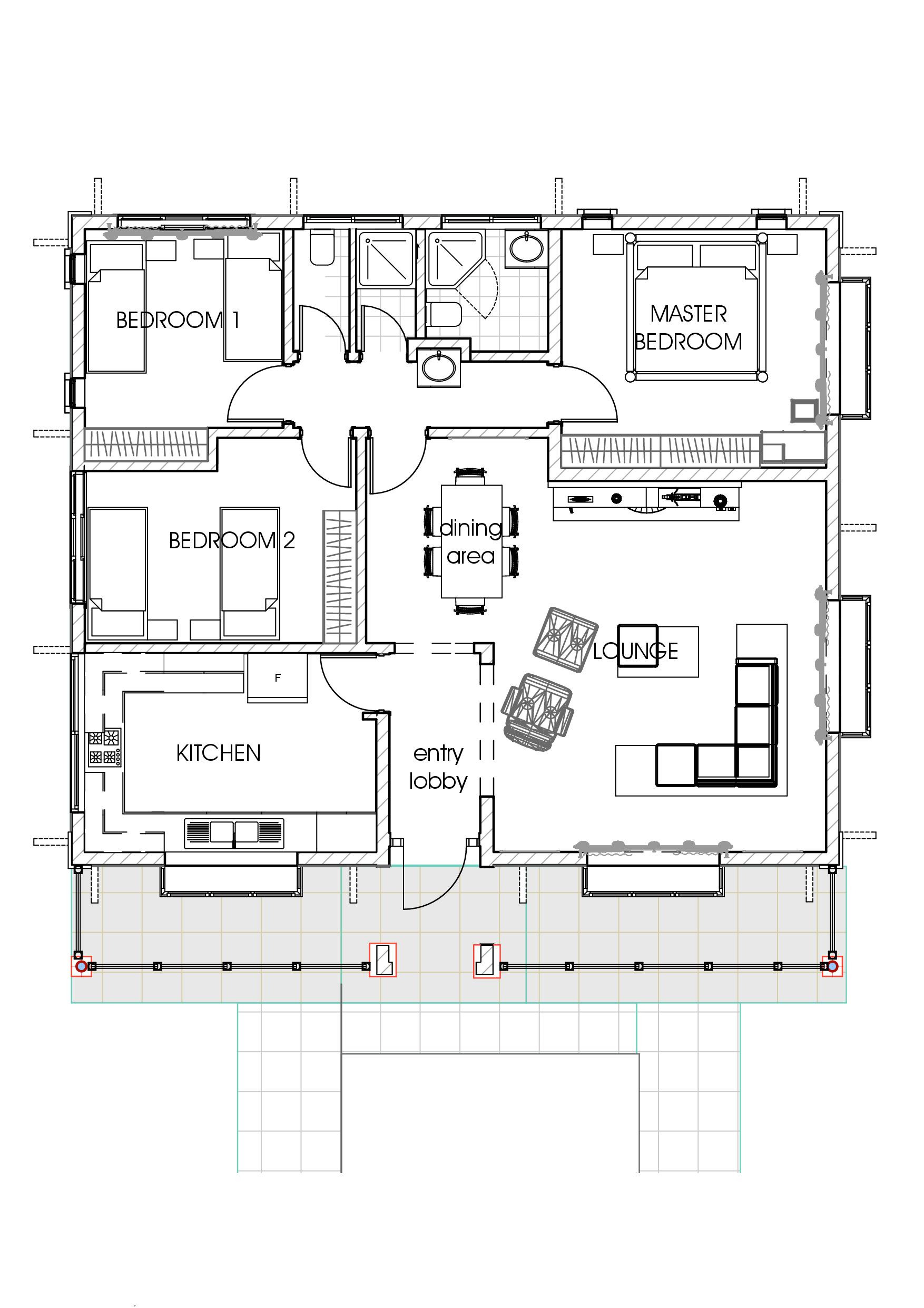 Three Bedroom House Floor Plans Awesome David Chola – Architect – House Plans In Kenya – the Concise