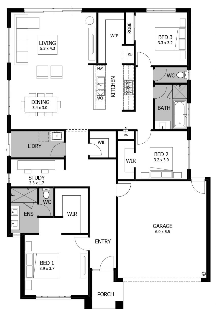floor plan friday 3 bedroom for the small family or down sizer