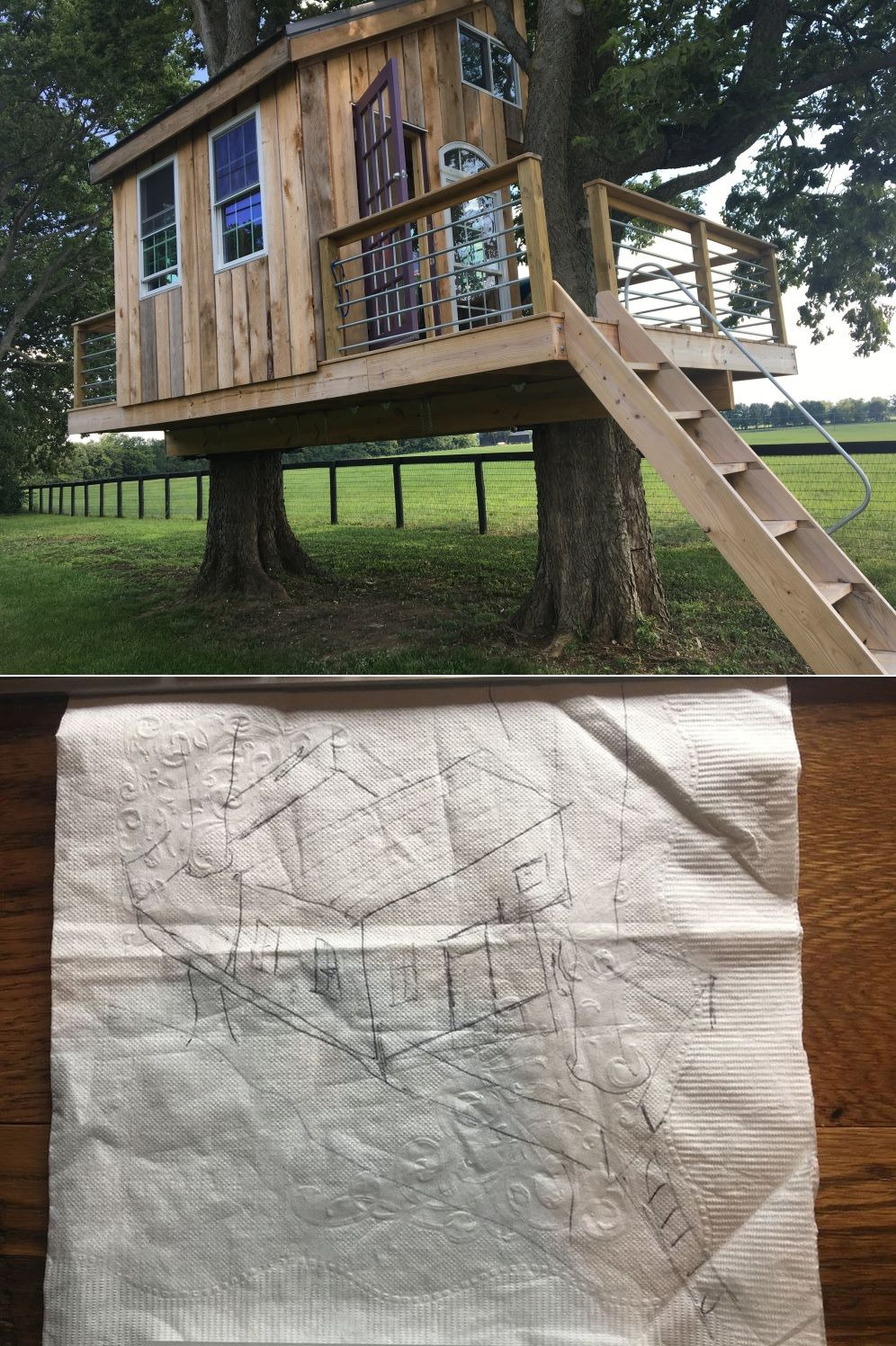 Tree house plans building process
