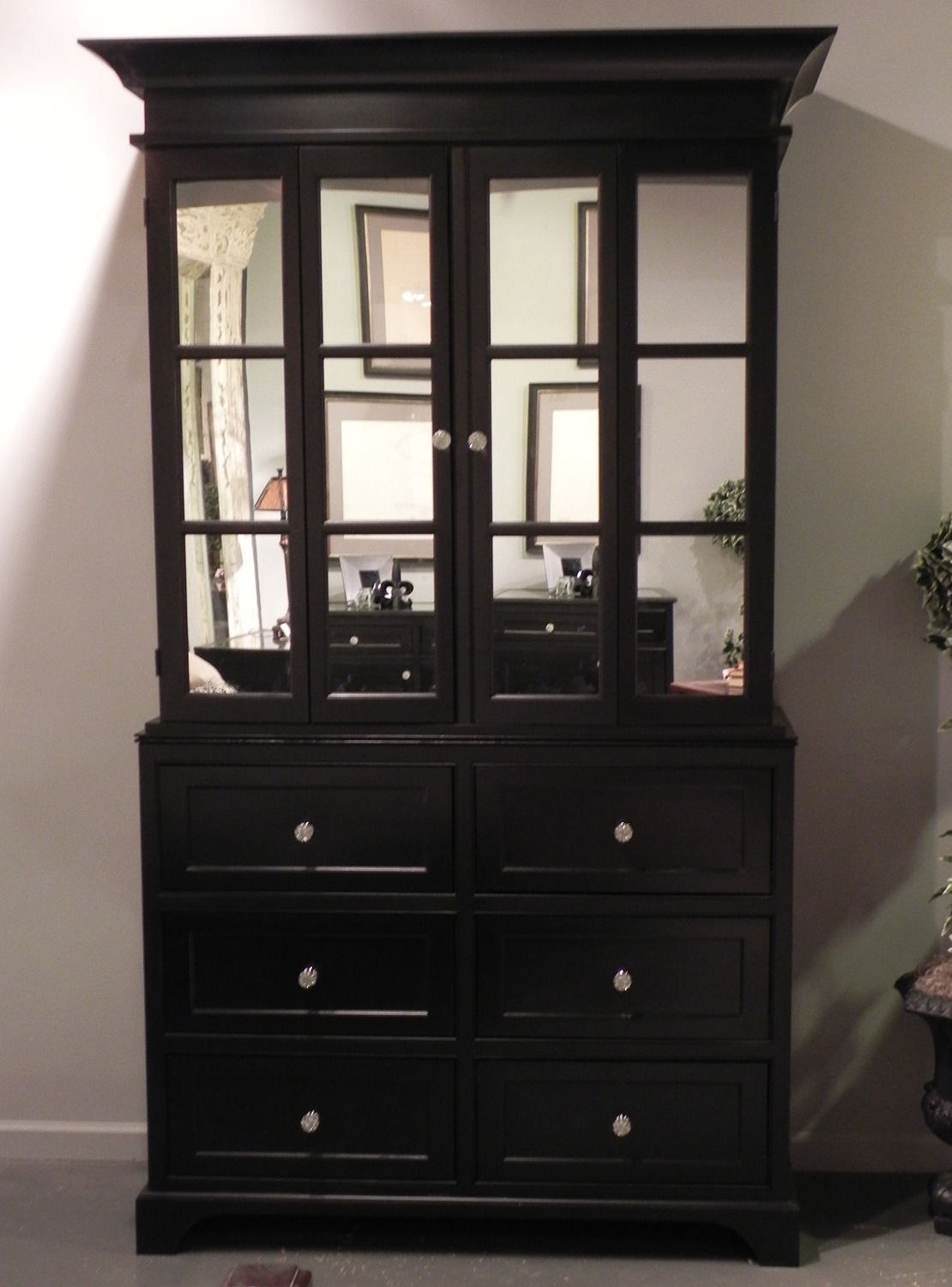 Tv Cabinet with Doors Unique Black Painted Tv Cabinet with Mirror Doors