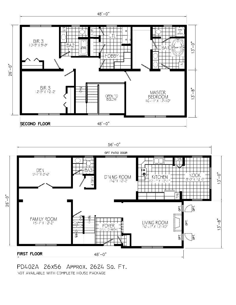 2 Floor Home Plan For Urban Home