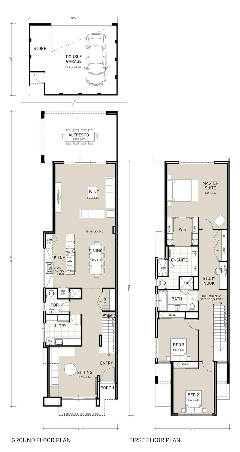 Two Floor House Plan Inspirational Narrow Two Story House Plans Google Search