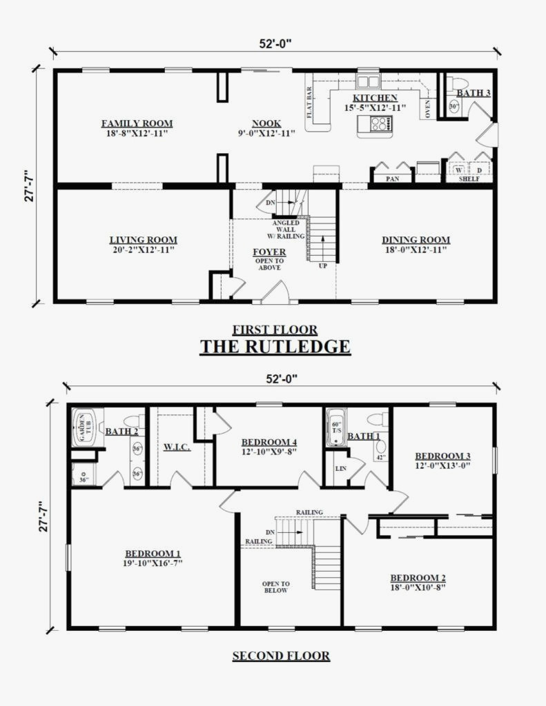 rectangular 2 story house plans