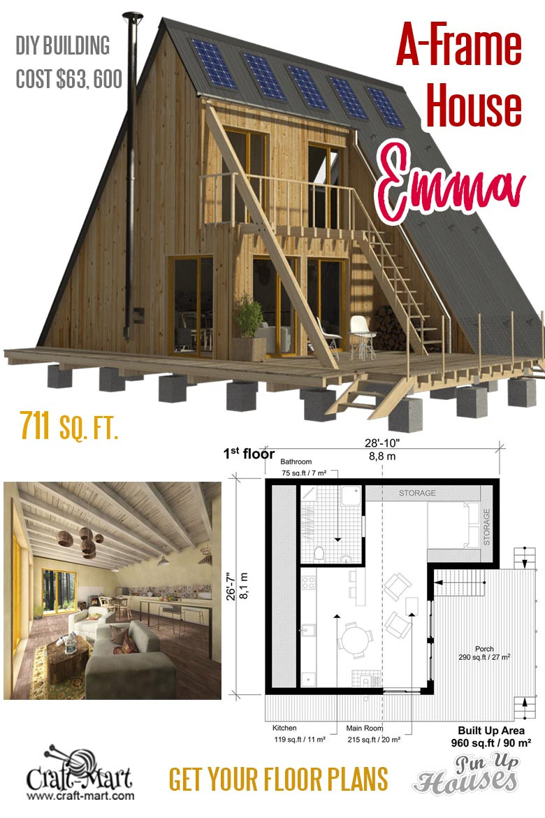 110 emma a frame tiny house plans 1