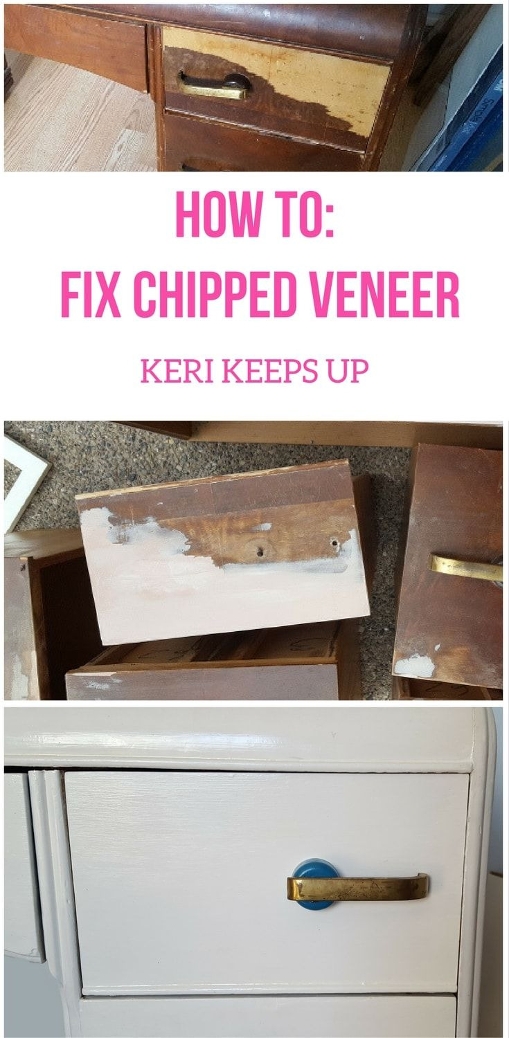 Veneer Repair Replacement On Antique Furniture New How to Fix Chipped Veneer the Cheater Way