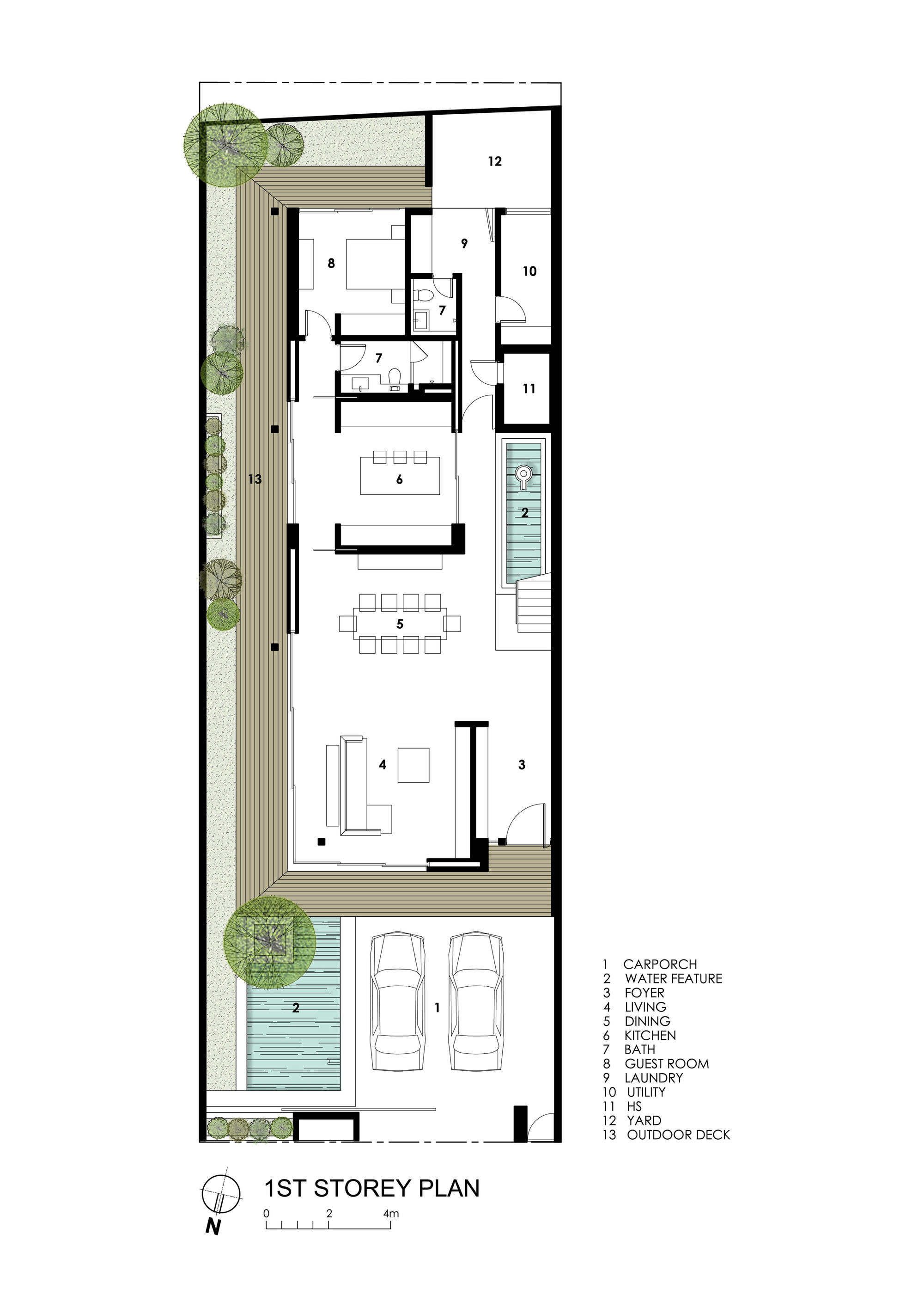 533a1b27c07a b d far sight house wallflower architecture design first floor plan