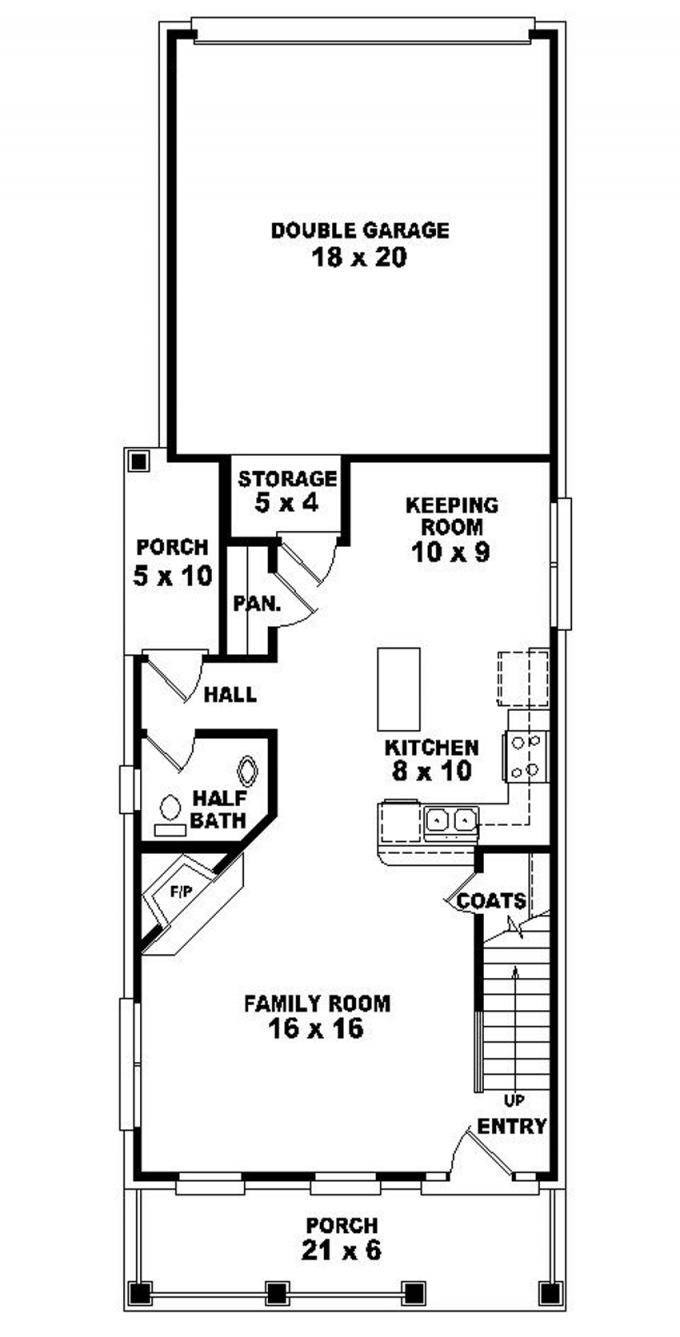 long narrow lot house plans design