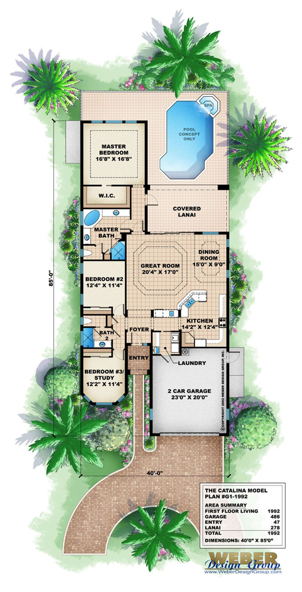 Waterfront Narrow Lot House Plans Inspirational Catalina Home Plan In 2020