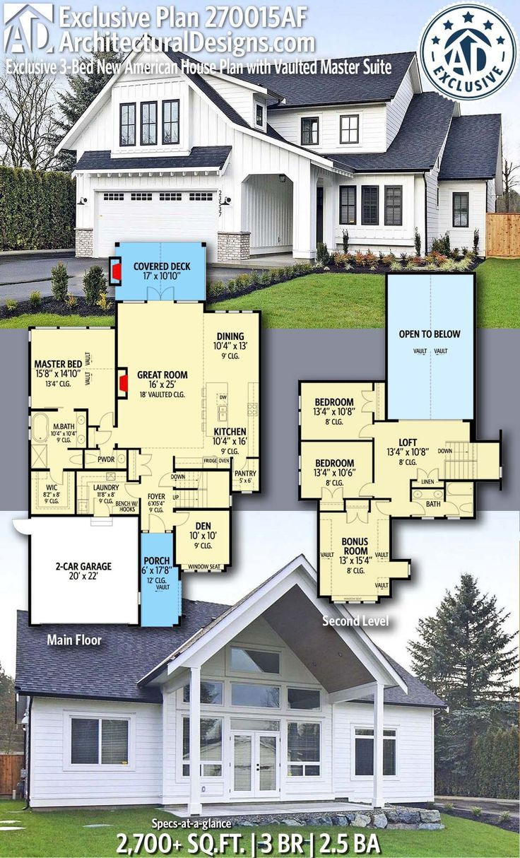 Where to Find House Plans Fresh Plan Af Exclusive 3 Bed New American House Plan with