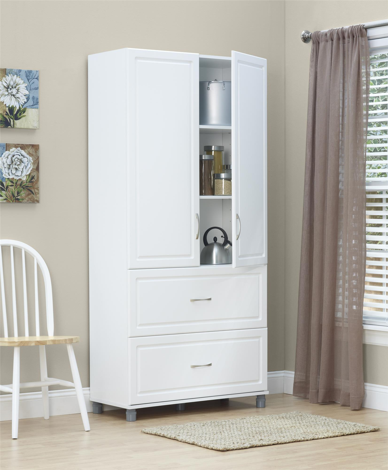2411 P Kendall 36 2 Door 2 Drawer Storage Cabinet White