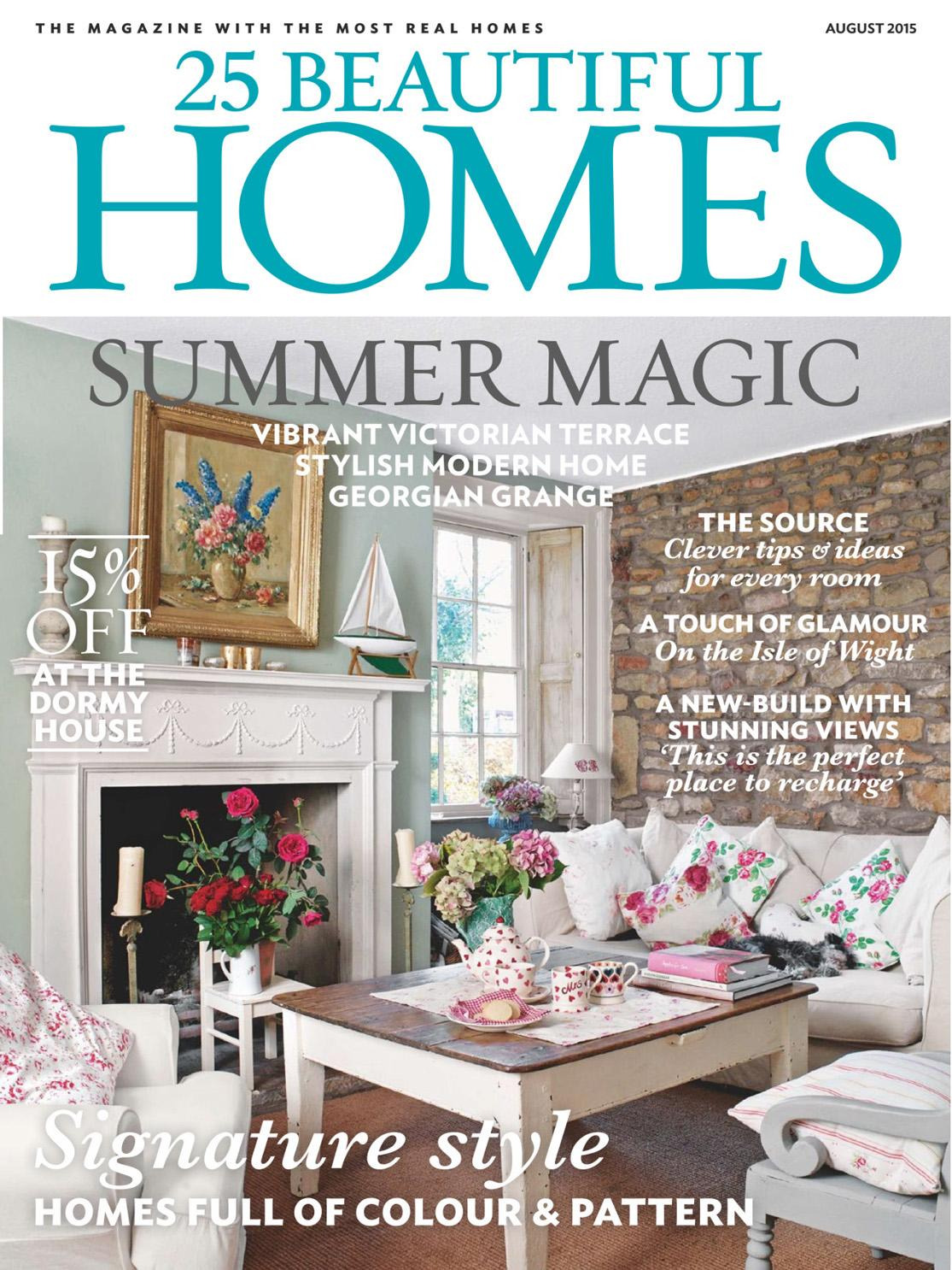 25 beautiful homes august 2015 sh