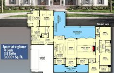 4 Bedroom Farmhouse House Plans Lovely Plan Hz Stylish 4 Bed Modern Farmhouse Plan With