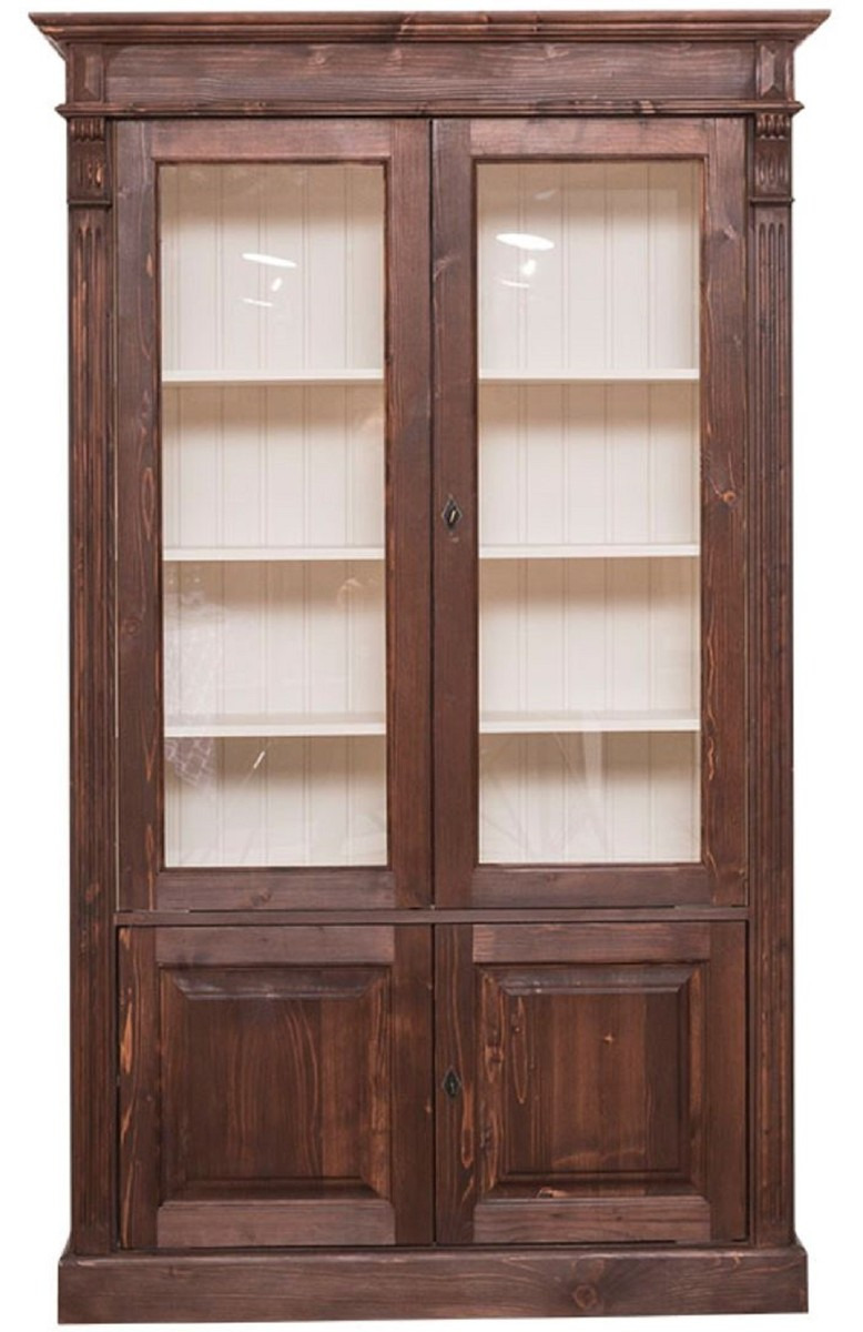 4 Door Cabinet Best Of Casa Padrino Country Style Bookcase Dark Brown Cream 119 X 39 X H 197 Cm Living Room Cabinet with 4 Doors solid Wood Cabinet Showcase