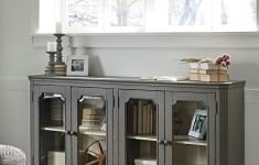 Accent Cabinet With Glass Doors Lovely Ashley Mirimyn Antique Gray 4 Door Accent Cabinet